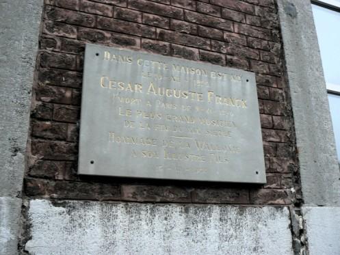 Une maison de 18e siècle classé Patrimoine historique: le compositeur César Franck y est né