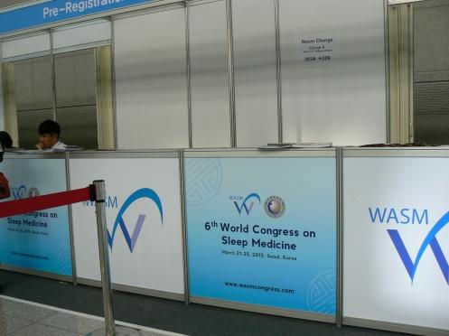 Quầy ghi danh của Hội nghị WASM,