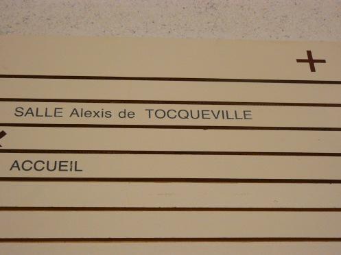 Salle Alexis de Tocqueville, qui a lu La démocatie en Amérique?