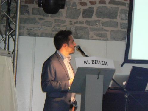 Notre premier orateur; Dr Michele Bellesi, un chercheur de Wisconsin, spécialiste de la myélinisation des neuronnes