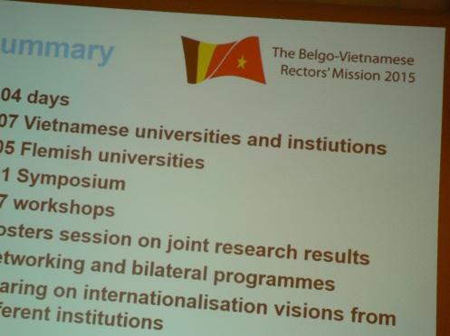 Vài con số sơ lược của các chương trình hợp tác Đại học Bỉ-Việt
