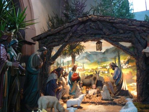 cảnh máng cỏ nơi Chúa chào đời, ...