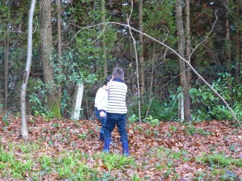 Hai cháu tôi cùng đi ra rừng chôn rác với bà nội. Để các cháu học cách bảo vệ môi trường ...
