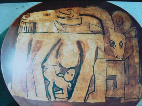 et enfin, un laque de 33 cm de diamtre, 1978