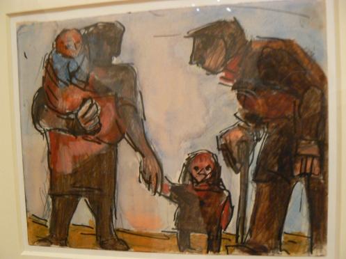 Les parents sont des géants par rapport aux enfants - J. Herman, Family, Cardiff National Museum.