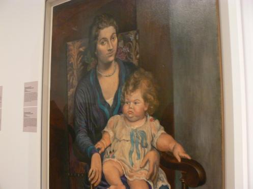 Bức này cũng của Picasso nhưng ít người biết hơn: chân dung của bà Rosenberg và con gái - gia đình Rosenberg chuyên sưu tầm và bán tranh, đầu thế kỷ XX