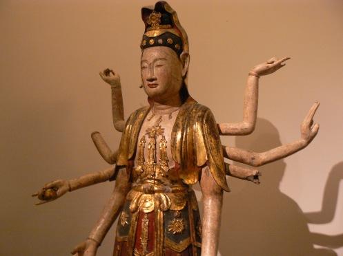 Phật bà quan âm, tượng gỗ sơn, thế kỷ thứ