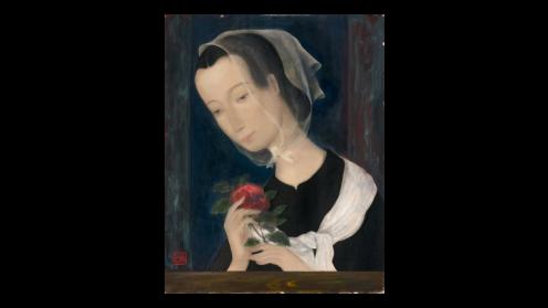 Le Pho Jeune fille a la rose